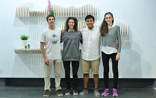 Adrian, Paula, Oriol y Núria, cofundadores de Köllen Design